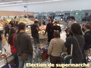 Election de supermarché